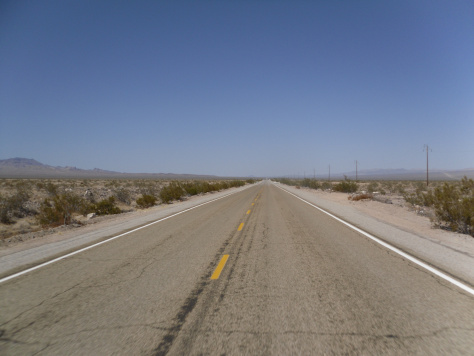 Route 66 through the desert