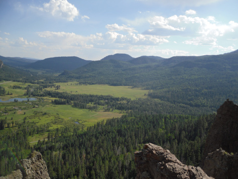A view from Wolf Creek Pass